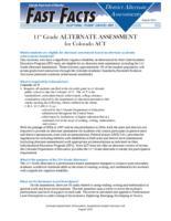 11th grade alternate assessment for Colorado ACT
