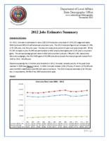 2012 jobs estimates summary