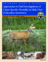 Approaches to field investigations of cause-specific mortality in mule deer