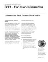 Alternative fuel income tax credits