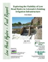 Exploring the viability of low head hydro in Colorado's existing irrigation infrastructure : final report