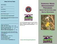 Noxious Weed Management Program, early detection and rapid response