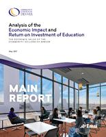 Analysis of the economic impact and return on investment of education. The economic value of Community College of Denver