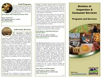 Division of Inspection & Consumer Services programs and services