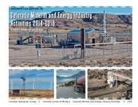 Colorado mineral and energy industry activities in 2014-2015
