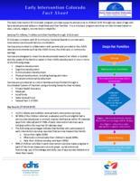 Early Intervention Colorado fact sheet