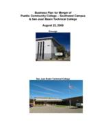 Business plan for merger of Pueblo Community College, Southwest Campus & San Juan Basin Technical College