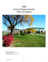 2008 Lowry campus security Clery Act report