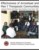 Effectiveness of Arrowhead and Peer I therapeutic communities