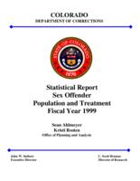 Statistical report sex offender population and treatment fiscal year 1999