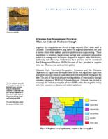 Irrigation Best Management Practices : what are Colorado producers doing?