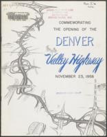 Commemorating the opening of the Denver Valley Highway, November 23, 1958