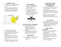 West Nile virus encephalitis : a guide for Colorado horse Owners