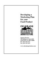 Developing a marketing plan for your food product