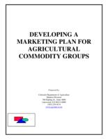 Developing a marketing plan for agricultural commodity groups