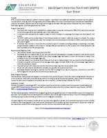 Job growth incentive tax credit (JGITC) fact sheet