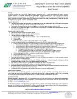 Job growth incentive tax credit (JGITC) higher education partnership (HEP) fact sheet