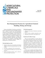Best management practices for agricultural chemical handling, mixing, and storage