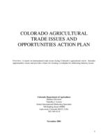 Colorado agricultural trade issues and opportunities action plan