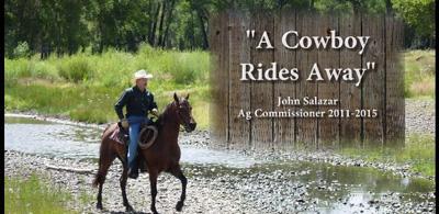 A cowboy rides away, John Salazar Ag Commissioner 2011-2015