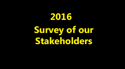 2016 survey of our stakeholders and what they think