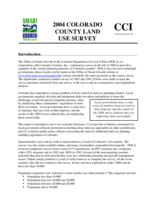 2004 Colorado county land use survey