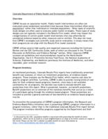 Colorado Results First Health Findings. Attachment 1: CDPHE Overview.