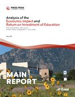 Analysis of the economic impact and return on investment of education. The economic value of Pikes Peak Community College