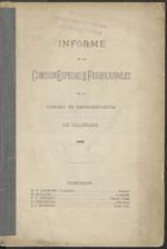 Informe de la Comisión Especial sobre Ferrocarriles de la Cámara de Representantes de Colorado, 1885