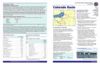 Colorado River main stem drought & water supply assessment basin summary
