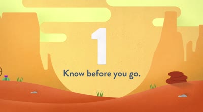 Leave no trace. Know Before You Go.