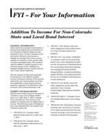 Addition to income for non-Colorado state and local bond interest