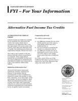 Alternative fuel income tax credits