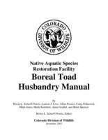 Boreal toad husbandry manual
