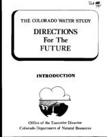 The Colorado water study : directions for the future : introduction