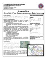 Arkansas River drought & water supply assessment basin summary