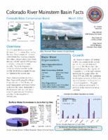 Colorado River mainstem basin facts