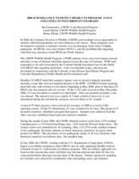 2006 surveillance to detect highly pathogenic avian influenza in wild birds in Colorado
