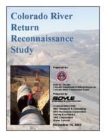 Colorado River return reconnaissance study