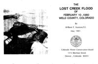 The Lost Creek flood of February 10, 1980