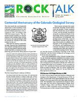 Centennial anniversary of the Colorado Geological Survey