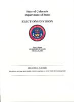 2006 general election. Findings of the Montrose County general election investigation