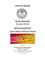 Bingo-raffles games manager reference manual