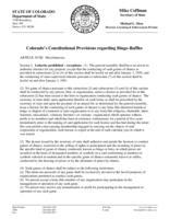 Colorado's constitutional provisions regarding bingo-raffles