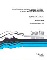 Determination of ecosystem response thresholds to nutrient enrichment of flowing waters in montane Colorado