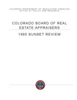 1995 sunset review, Board of Real Estate Appraisers