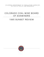 1995 sunset review, Coal Mine Board of Examiners