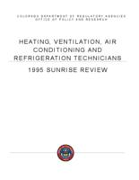 1995 sunrise review, heating, ventilation, air conditioning, and refrigeration technicians