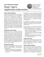 Buyer agent application information