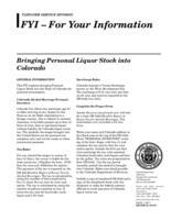 Bringing personal liquor stock into Colorado